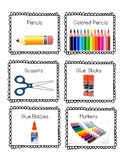 Classroom Object Labels with Visuals