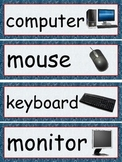 Classroom Object Labels/Signs - Class Setup - Red and Blue Colors - Nautical