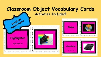 Classroom Object Vocabulary Cards