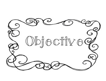 Classroom Objective Board Labels