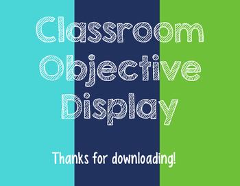 Classroom Objective Display