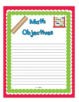 Classroom Objectives/standards Posters