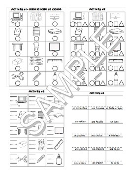 Back to School / La rentrée FRENCH Worksheets and Games Pack