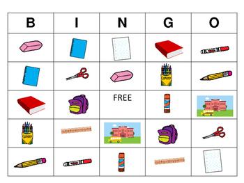 Classroom Objects BINGO – ESL Classroom Objects Vocabulary