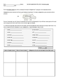 French Classroom Objects Calligramme Homework