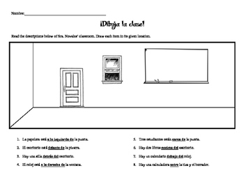 Classroom Objects Drawing Activity