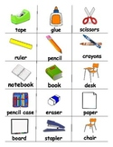 Back to School / Classroom Objects ESL Games