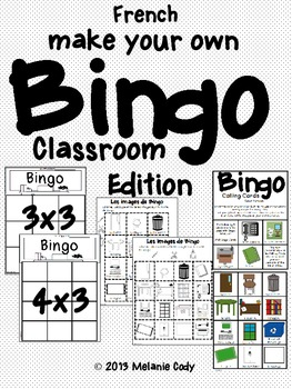 Classroom Objects - Make Your Own Bingo Game