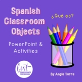 Spanish Classroom Objects PowerPoint & Interactive Notebook Activities