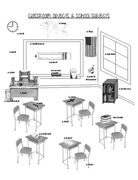 Classroom Objects & Subjects