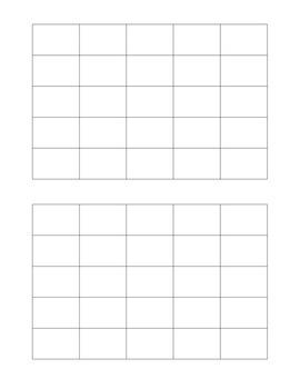 Classroom Objects Vocabulary Bingo