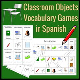 Classroom Objects Vocabulary Games in Spanish