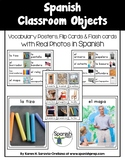 Spanish Classroom Objects Vocabulary Posters & Flashcards with Real Photos
