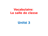 Classroom Objects Vocabulary in French