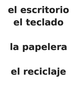 Classroom Objects Vocabulary to label the room - Spanish