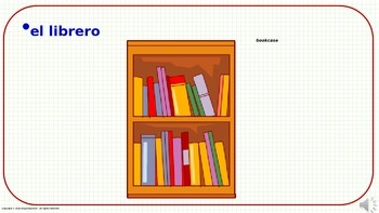Classroom Objects (2). Power Point Presentation with audio.