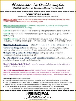 Classroom Observation-5 Steps and Walkthrough Template