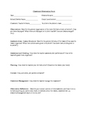 Classroom Observation Form