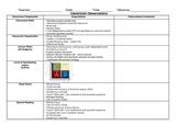 Classroom Observation Form