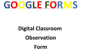 Classroom Observation Google Form