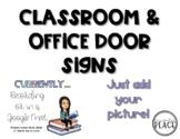 Classroom & Office Door Signs