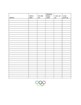 Classroom Olympics Unit