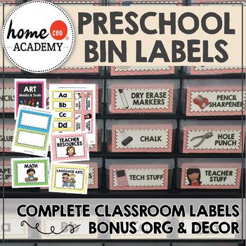 Classroom Organization - Bin Labels, Teacher Supply Labels