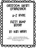 Classroom Organization - A to Z labels - fuzzy bump borders