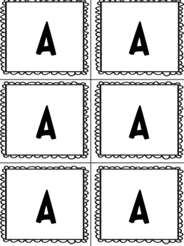 Classroom Organization - A to Z labels - fuzzy bump borders