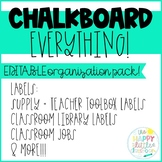 Chalkboard-themed Classroom Organization! Editable labels
