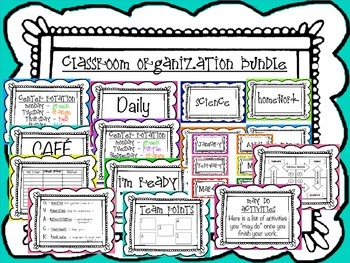 Massive Classroom Organization Bundle!!