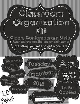 Classroom Organization Label Set