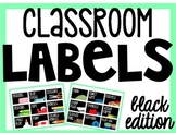 Classroom Organization Labels (black version) {Editable}