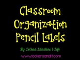 Classroom Organization Labels - Black Pencils