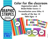 Organization Labels - Colorful Stripes Artwork ** ORIGINAL ARTWORK