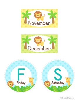 Classroom Labels Safari Theme