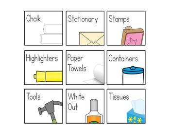 Classroom Organization Labels (white version) {Editable}