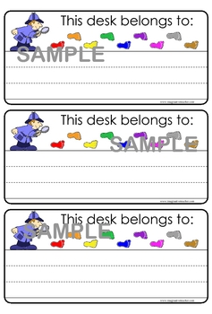 Classroom Organization Pack - Detective theme