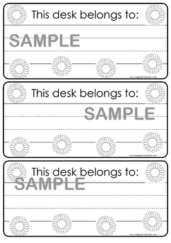 Classroom Organization Pack - Flowers theme