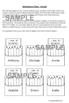 Classroom Organization Pack - Pencil theme