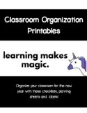 Classroom Organization Packet