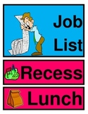 Classroom Organization Posters and Student Job List Cards For Daily Display