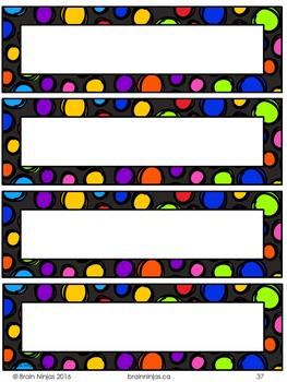Classroom Organization Set- Editable
