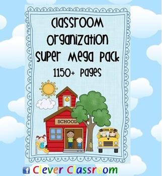 Classroom Organization MEGA BUNDLE