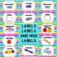 Classroom Organization  Supply Labels For Shoe Boxes and Baskets