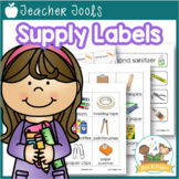 Classroom Organization Supply Labels {personalize it!}
