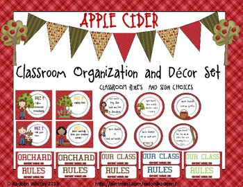 Classroom Organization and Decore Set(Apple Cider)