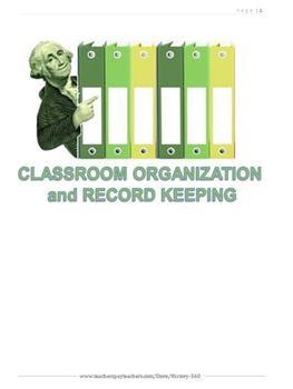 Classroom Organization and Record Keeping