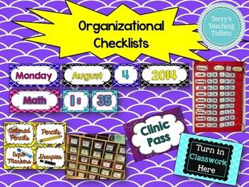 Classroom Organizational Materials