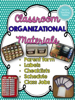 Classroom Organizational Materials